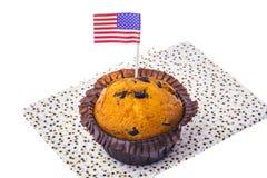 Isolerade läckra muffin på självständighetsdagen Royaltyfria Bilder