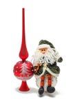 Isolerade leksaker för jul, jultomten och jul klumpa ihop sig Royaltyfri Bild