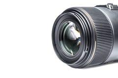 Isolerade Lens av en SLR kameranärbild med en reflexion Arkivbilder