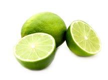 Isolerade limefrukter Arkivfoton