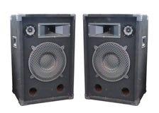 Isolerade ljudsignala högtalare för gammal kraftig etappkonsert Arkivfoton