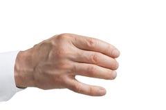 Isolerade mäns hand arkivbilder
