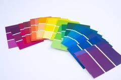 isolerade målarfärgprövkopior Fotografering för Bildbyråer