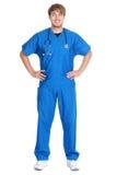 Isolerade Male sjuksköterska eller doktor Arkivbild