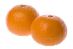 isolerade mandarinapelsiner Royaltyfri Foto