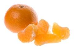 isolerade mandarinapelsiner Royaltyfri Fotografi