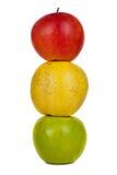 isolerade material för äpplebakgrund använder mat white royaltyfri foto