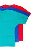 Isolerade medicinska kläder Royaltyfria Foton