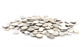 isolerade mynt Arkivfoton