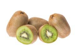 isolerade nya frukter för bakgrund kiwiwhite Royaltyfri Bild
