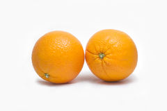 isolerade nya frukter för bakgrundssamling orange white royaltyfri foto