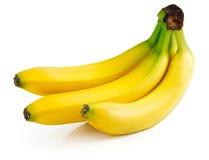 isolerade nya frukter för banan Arkivbilder