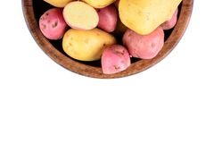 Isolerade nya potatisar Royaltyfri Foto