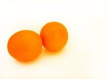 Isolerade nya saftiga apelsiner Royaltyfri Fotografi
