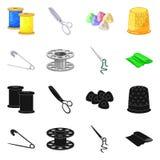 Isolerade objekt av hantverket och handcraft logo Samling av hantverk- och branschvektorsymbolen för materiel stock illustrationer