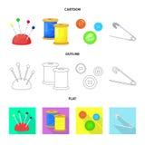 Isolerade objekt av hantverket och handcraft logo Samling av illustrationen f?r hantverk- och branschmaterielvektor stock illustrationer