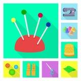 Isolerade objekt av hantverket och handcraft logo St?ll in av hantverk- och branschvektorsymbolen f?r materiel vektor illustrationer