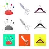 Isolerade objekt av hantverket och handcraft logo St?ll in av hantverk- och branschvektorsymbolen f?r materiel royaltyfri illustrationer