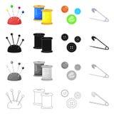 Isolerade objekt av hantverket och handcraft logo St?ll in av illustration f?r hantverk- och branschmaterielvektor vektor illustrationer