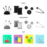 Isolerade objekt av hantverket och handcraft logo St?ll in av illustration f?r hantverk- och branschmaterielvektor stock illustrationer
