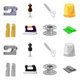 Isolerade objekt av hantverket och handcraft symbol St?ll in av hantverk- och branschvektorsymbolen f?r materiel royaltyfri illustrationer