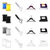 Isolerade objekt av hantverket och handcraft symbol St?ll in av illustration f?r hantverk- och branschmaterielvektor vektor illustrationer