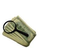 Isolerade objekt på vit bakgrund Pengar dollar Arkivfoto