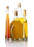 Isolerade olje- flaskor Royaltyfri Fotografi