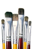 isolerade paintbrushes Arkivbild