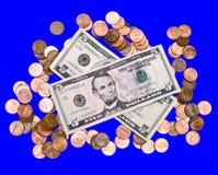 isolerade pengar Royaltyfri Bild