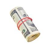 isolerade pengar för bills rullar dollar oss som är vita Royaltyfri Bild
