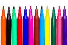Isolerade pennor för filtspets Royaltyfria Foton