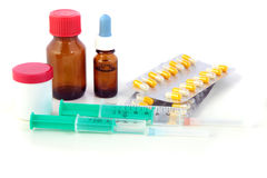 isolerade pharmaceuticals Royaltyfri Foto