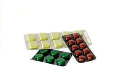 Isolerade pills Arkivfoton