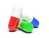 isolerade pills tre Royaltyfri Foto