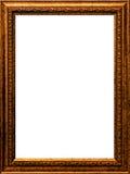 Isolerade pläterad guld- målarfärg för den gamla ramen för tidtappningträfotoet nolla Royaltyfria Bilder