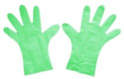 Isolerade plast- handskar - gräsplan Royaltyfria Bilder