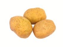 isolerade potatisar tre arkivbilder