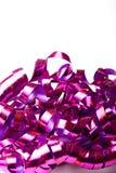 isolerade purpura blanka banderoller för bakgrund ferie Royaltyfri Foto