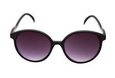 isolerade purpura sunglassess Royaltyfri Foto