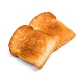isolerade rostat bröd två Royaltyfri Foto