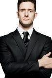 isolerade säkra för affärsman poserar standing Fotografering för Bildbyråer