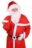 Isolerade Santa Claus på jul som har hemlighet Royaltyfri Fotografi