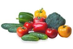 isolerade set grönsaker Arkivfoto