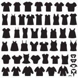 Isolerade skjortor och blusar vektor illustrationer