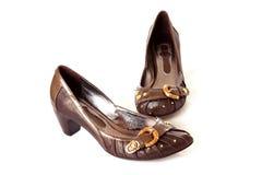 isolerade skor Fotografering för Bildbyråer