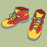 isolerade skor Arkivfoto