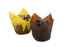 isolerade små muffin Arkivbilder