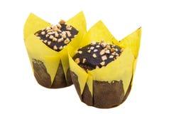 isolerade små muffin Fotografering för Bildbyråer