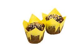 isolerade små muffin Royaltyfria Bilder